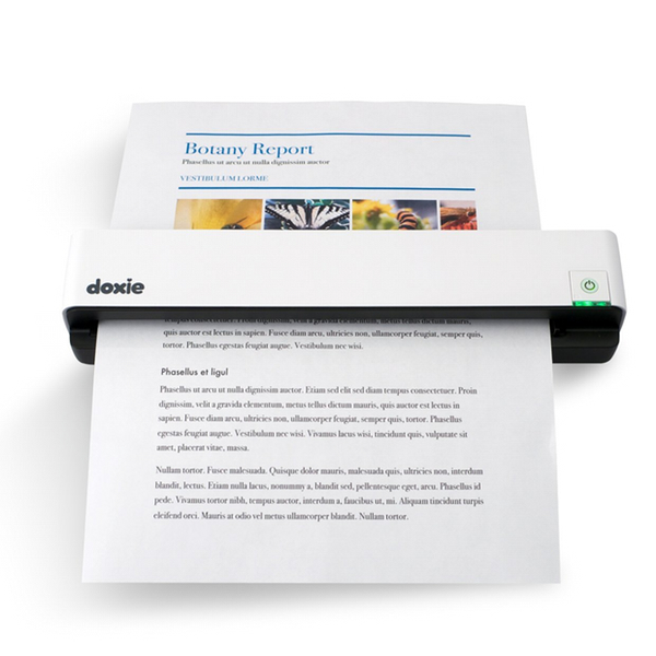 This rechargeable scanner cans can full-olour pages in just 8 seconds!