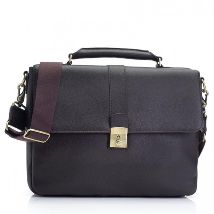 "Marshall Bergman 13"" Laptop Bag Eris Espresso Leather"