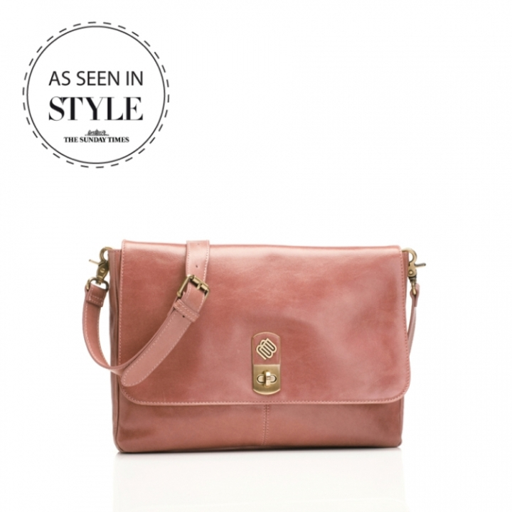 Marshall Bergman 11' Macbook/Tablet Bag Phoenix Dusty Rose Leather